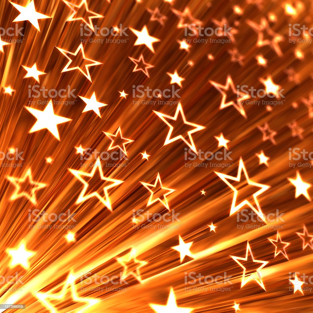 Background with shooting stars stock photo