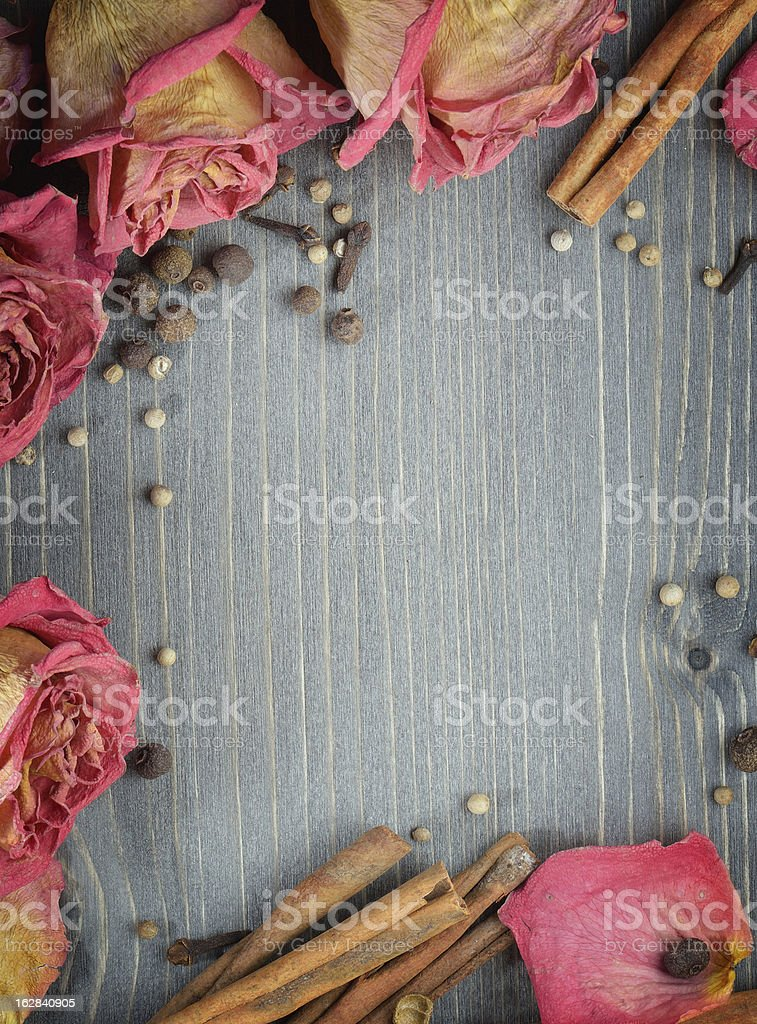 Background with spices royalty-free stock photo