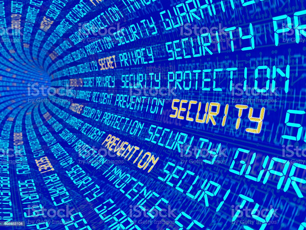 Background with the words privacy security, etc. stock photo