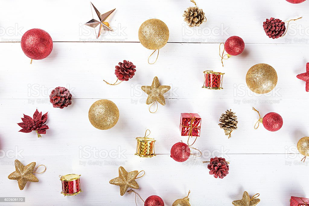 background with toys for Christmas card stock photo