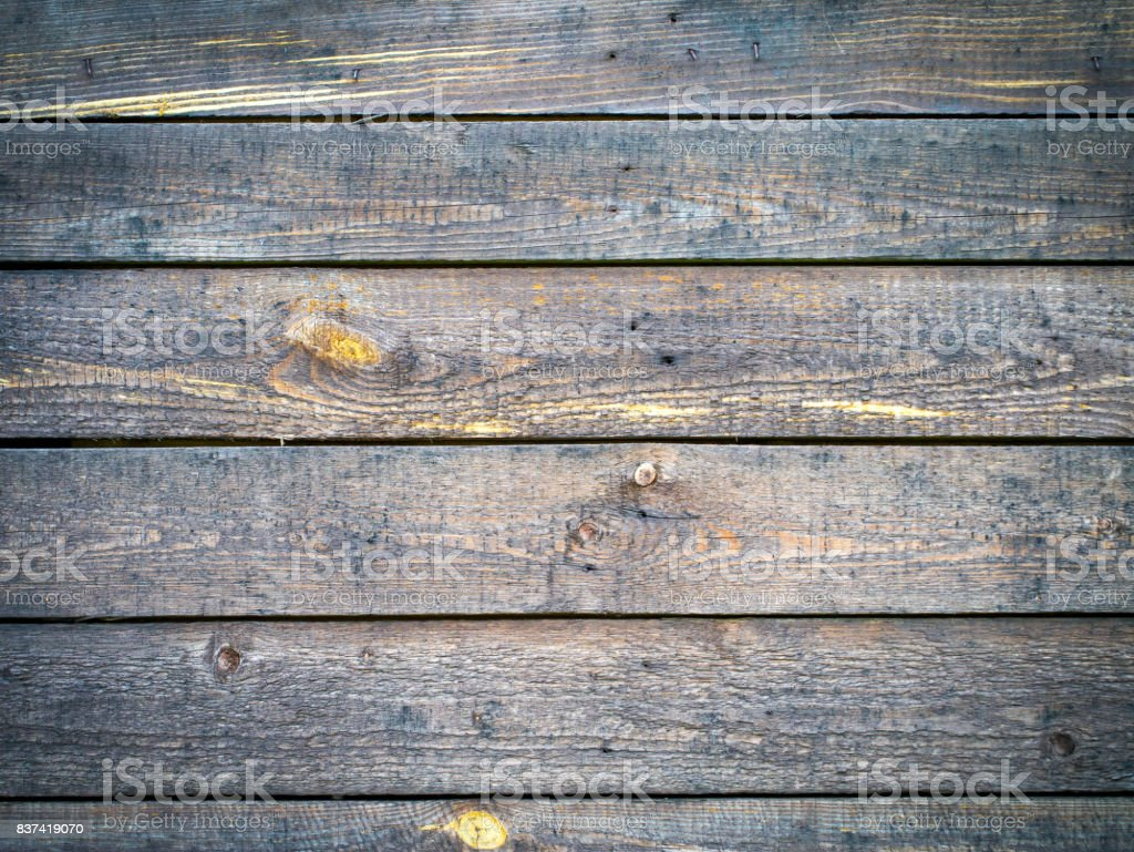 Background with weathered old rough aged texture of wood plate with copyspace stock photo