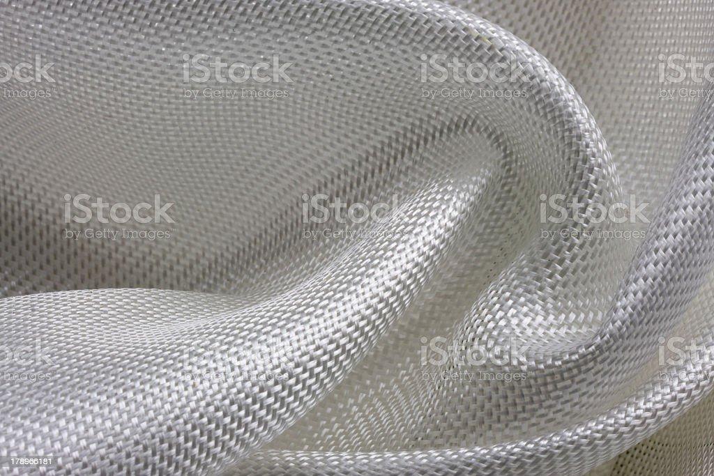 Background with white fiberglass cloth stock photo