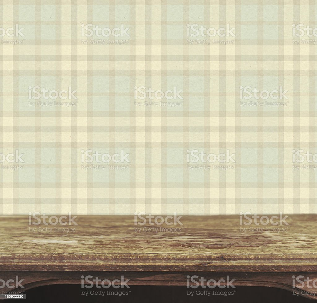 Background with wooden deck table royalty-free stock photo