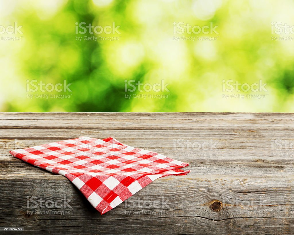 Background with wooden table stock photo
