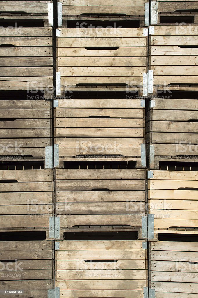 Background wooden box for fruits / apples (XXXLarge) stock photo