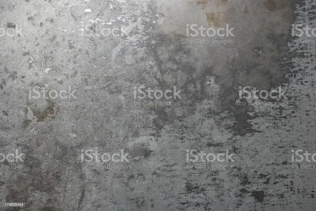 Background: Worn Sheet Metal royalty-free stock photo