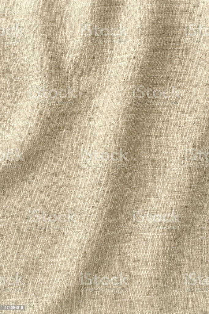 Background - Wrinkled Linen with lots of Texture, Full Frame. royalty-free stock photo