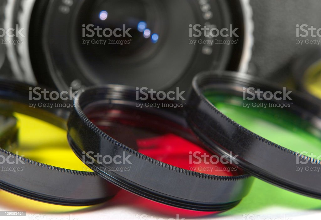 Background-photofilters and SLR royalty-free stock photo