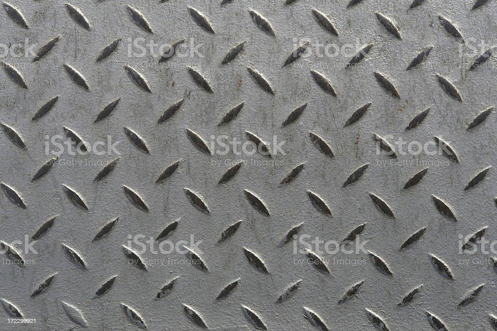 Backgrounds: Diamond Plate Sheet Metal royalty-free stock photo