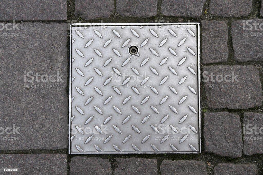Backgrounds: Door in the Floor stock photo