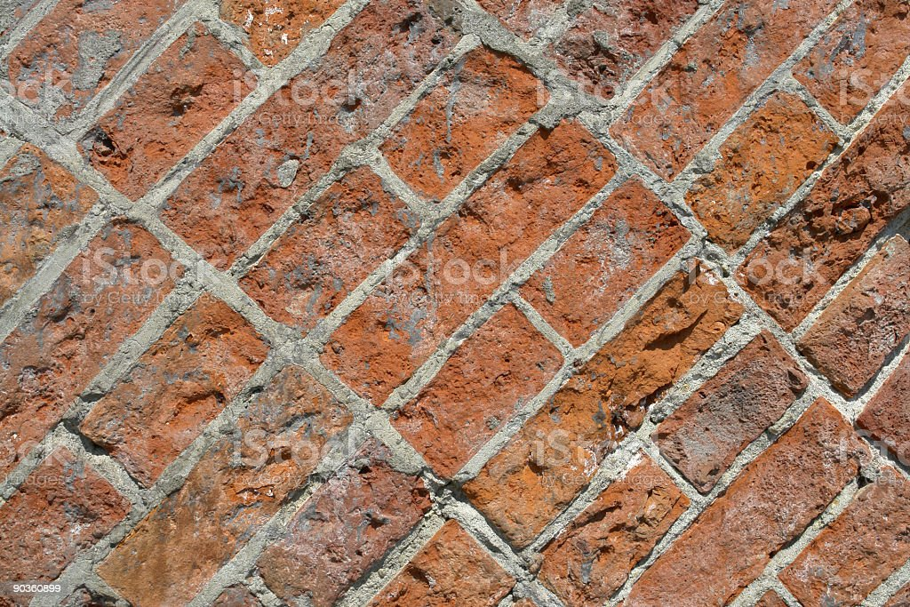 Backgrounds: Red Brick Wall stock photo