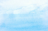 Backgrounds Watercolor Painting Blue Sky Cloud Sea
