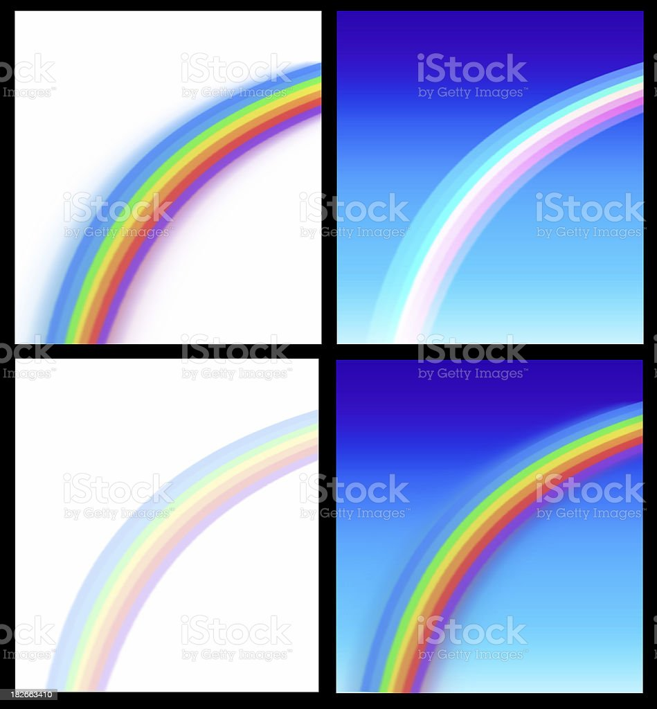 backgrounds with rainbows stock photo