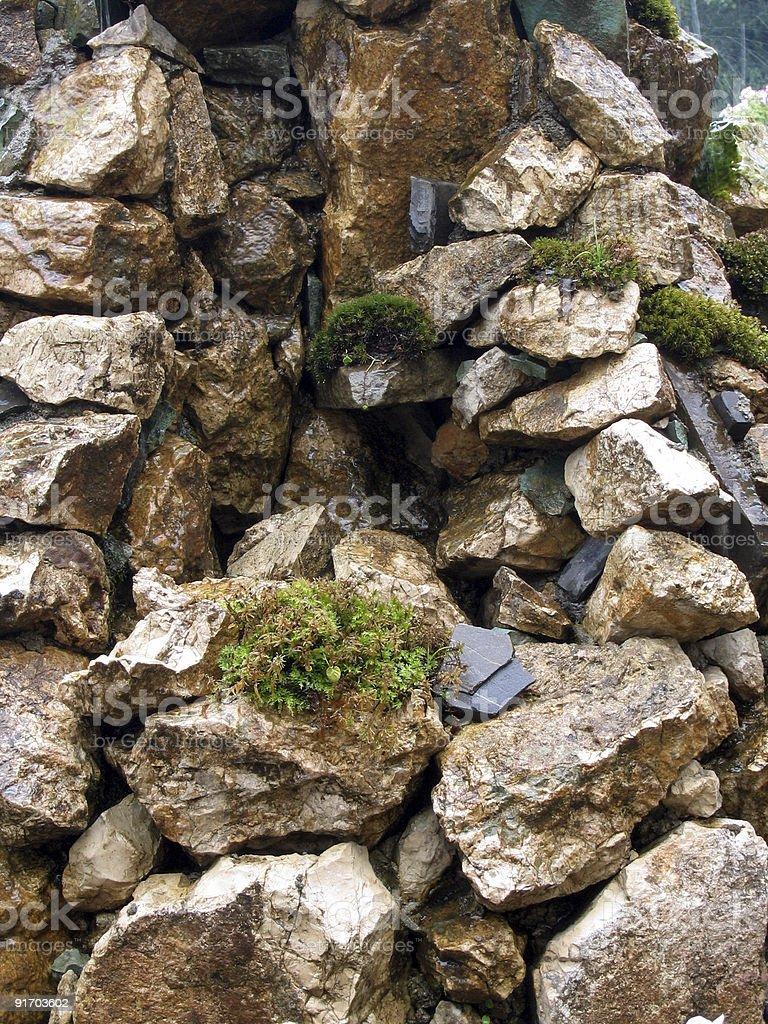 Hintergrund mit rock-arrangement Lizenzfreies stock-foto