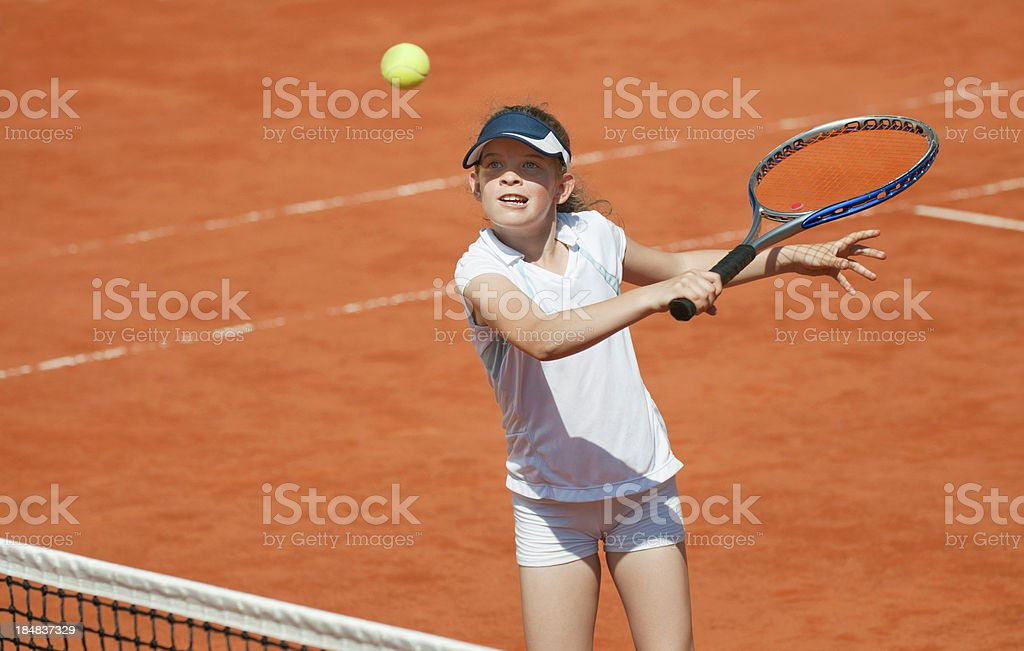 Backhand volley stock photo