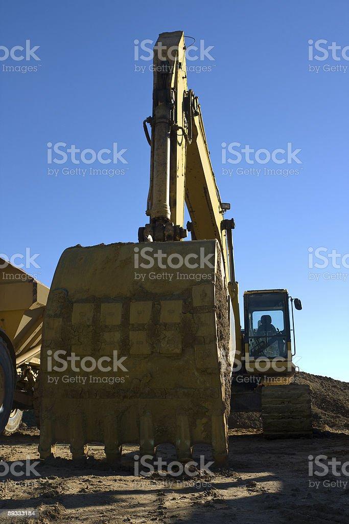 Backhoe Excavator stock photo