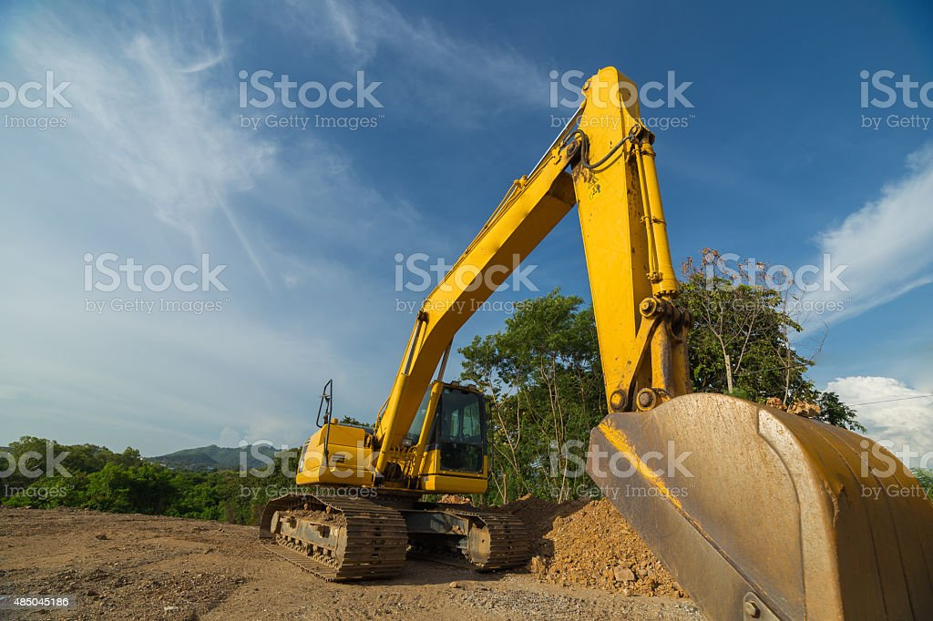 Backhoe machinery stock photo