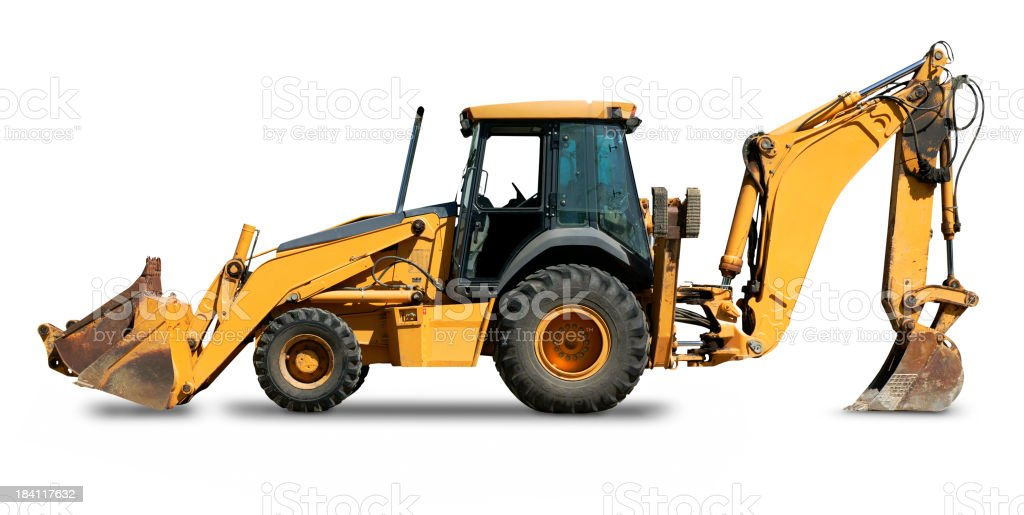Backhoe stock photo