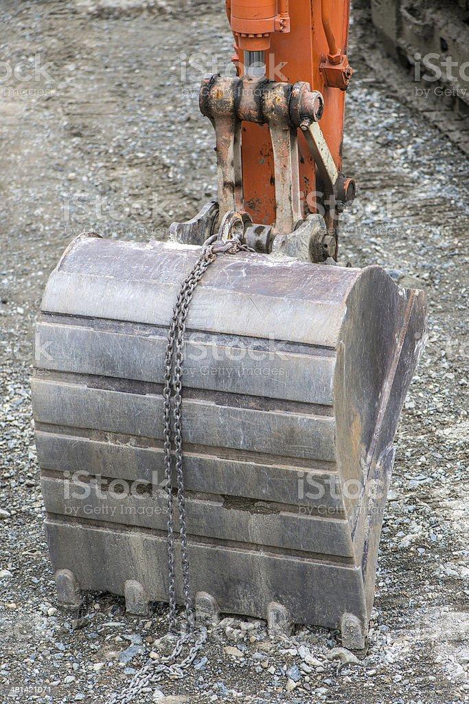 backhoe royalty-free stock photo