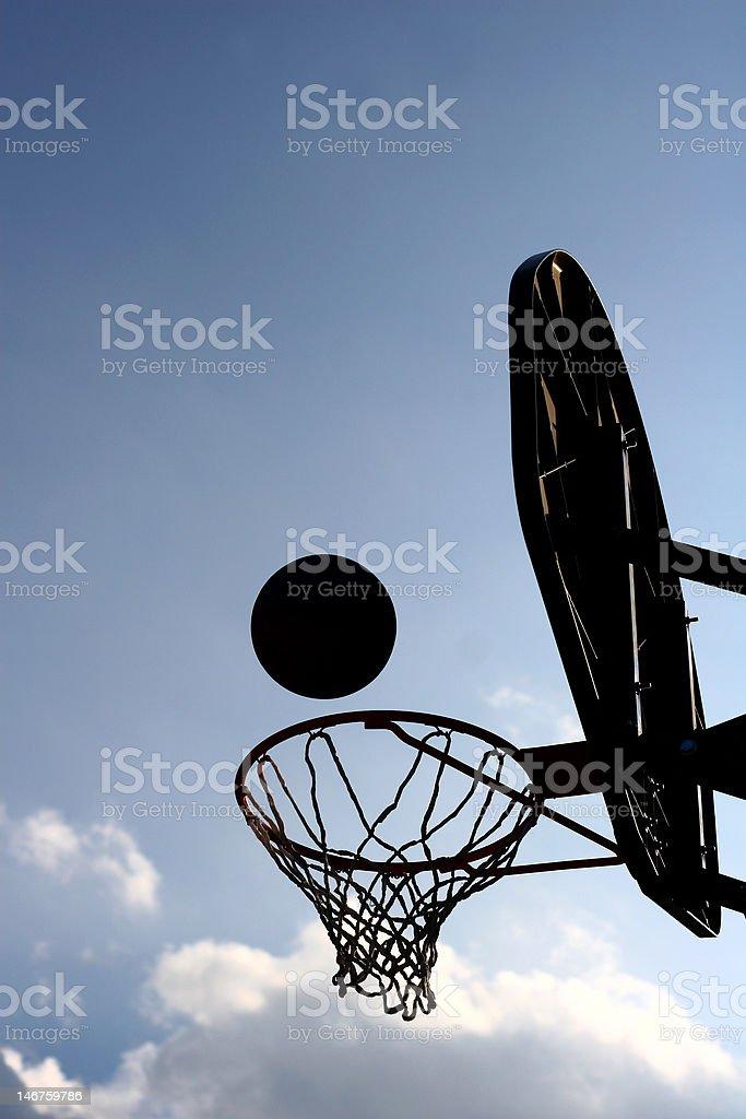 Backlight-basket. stock photo