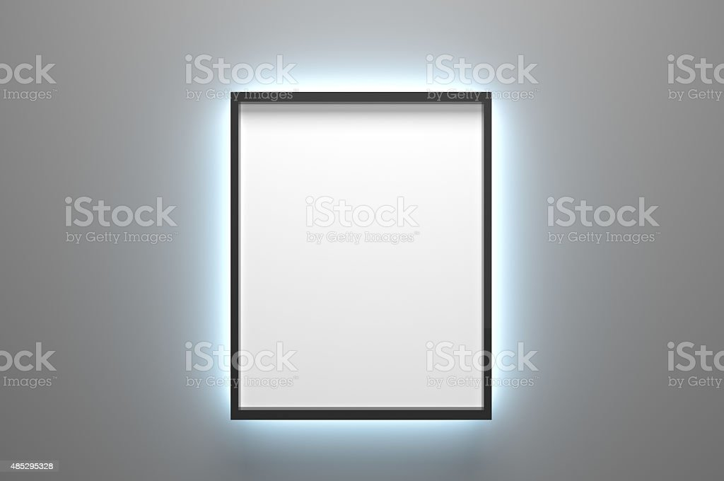 Backlighted Picture Frame stock photo