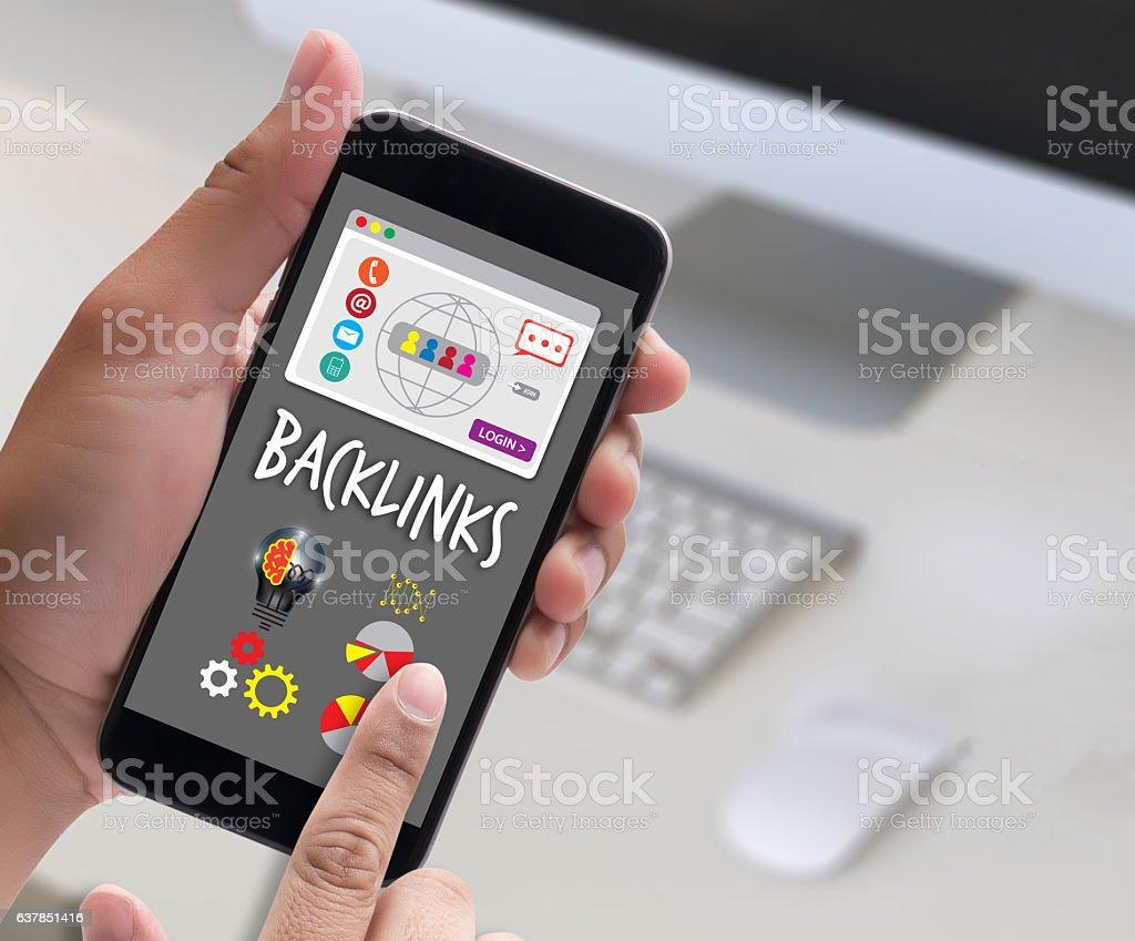 Backlinks Technology Online Web Backlinks Technology Online Web stock photo