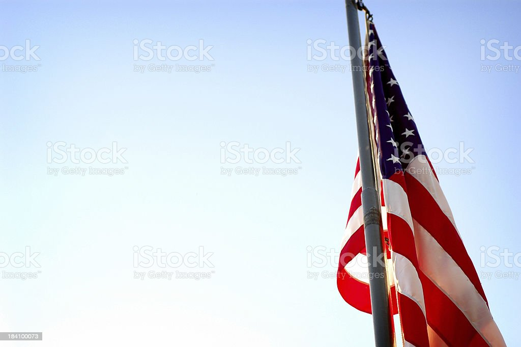 Backlit American Flag stock photo