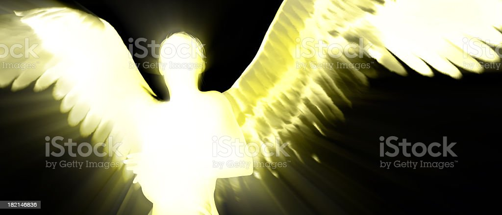 Backlit Angel Silhouette stock photo