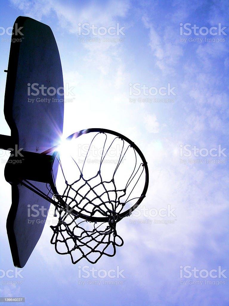 Backlit Basketball Hoop stock photo