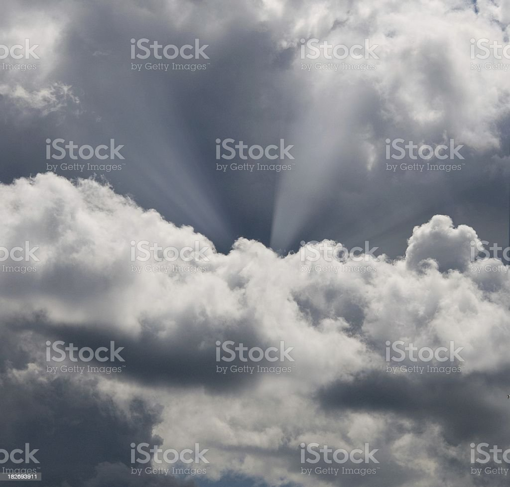 Backlit clouds royalty-free stock photo