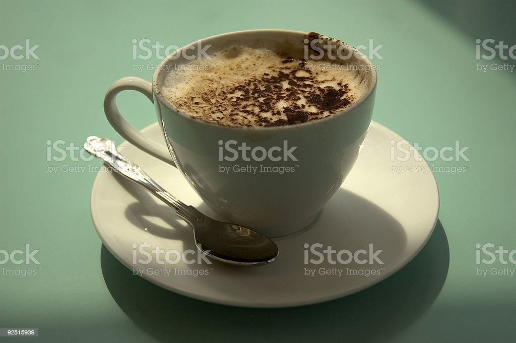 Backlit Coffee royalty-free stock photo