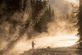 backlit jasper river
