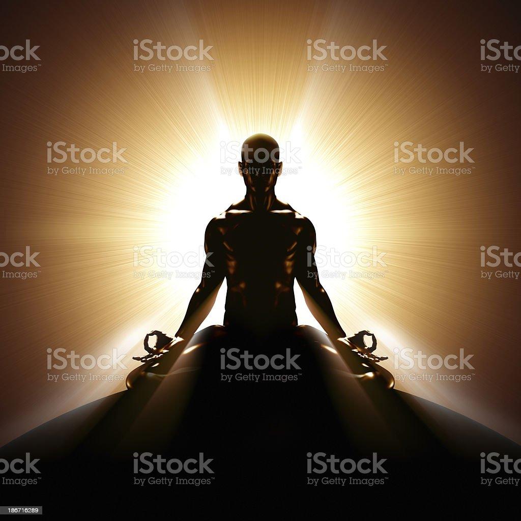 Backlit meditation royalty-free stock photo