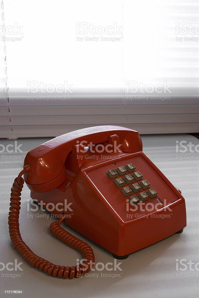 Backlit Office Phone stock photo