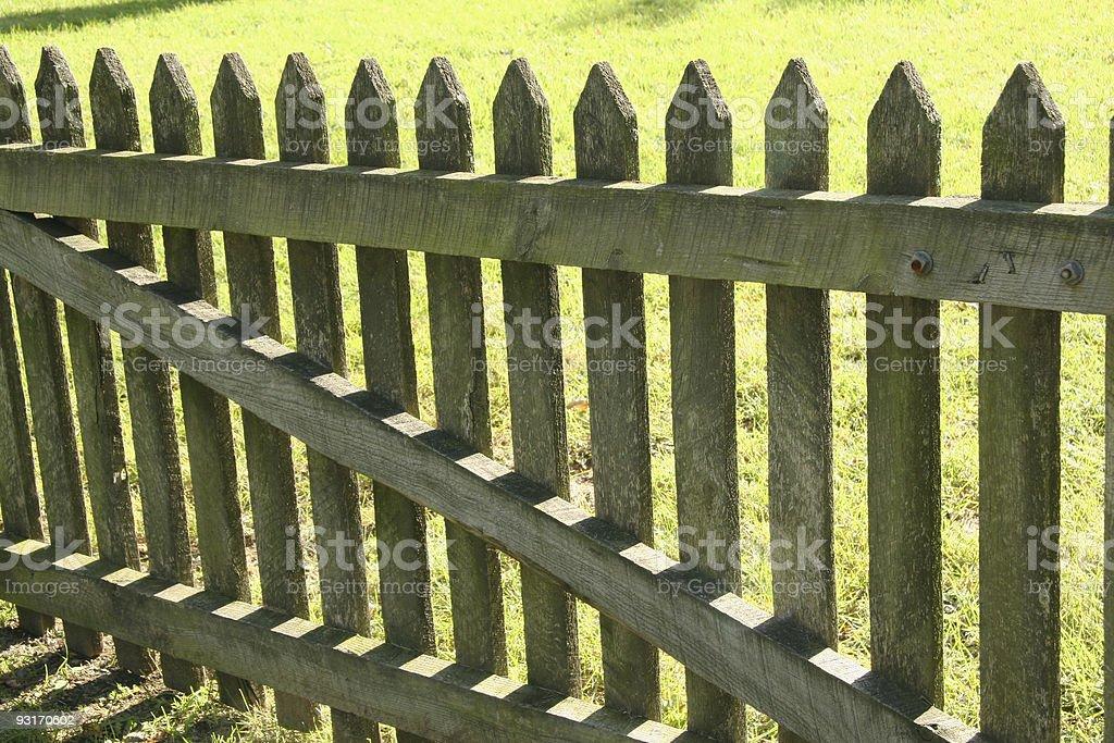 Backlit Picket Fence, Dayton, Ohio stock photo