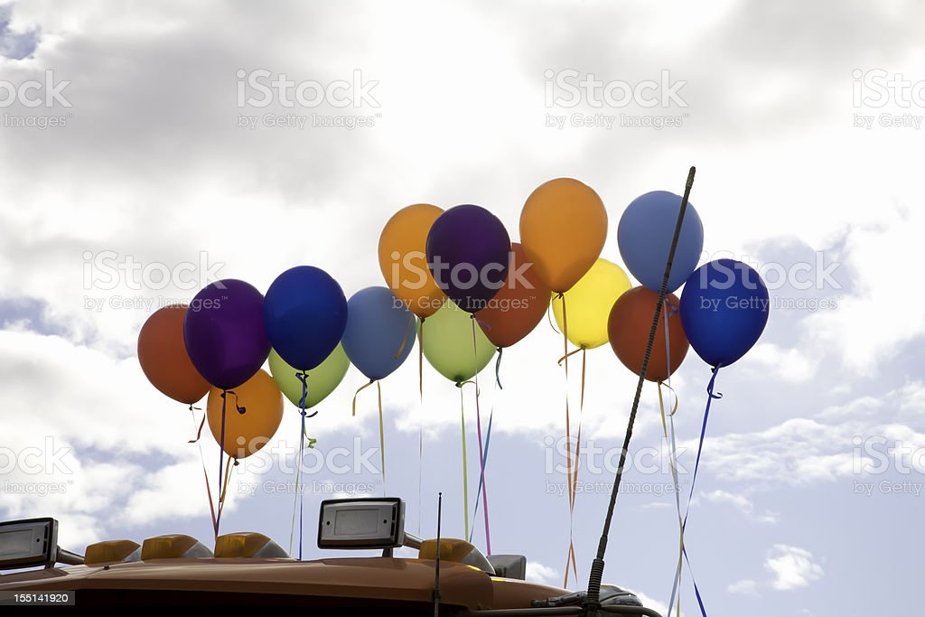 Backlit Rainbow Pride Balloons royalty-free stock photo