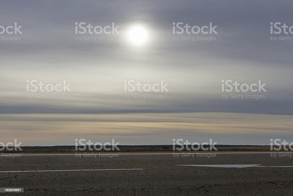 Backlit Road - Carretera a Contraluz royalty-free stock photo