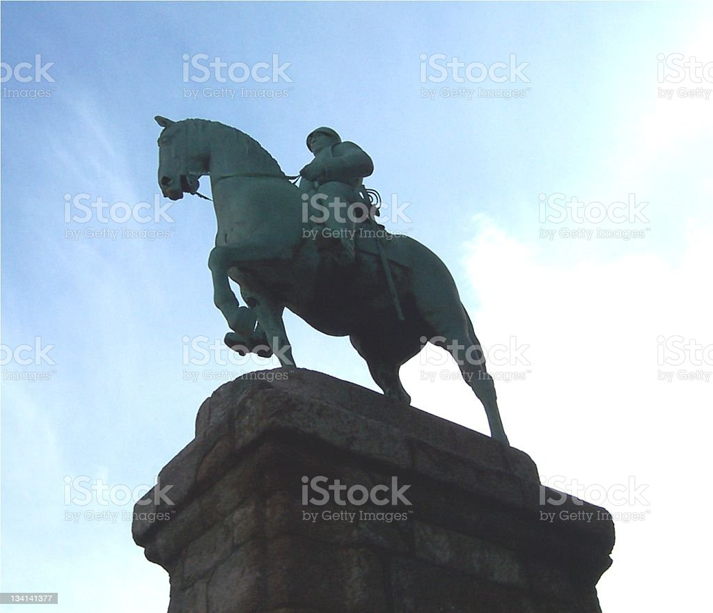 Backlit statue royalty-free stock photo