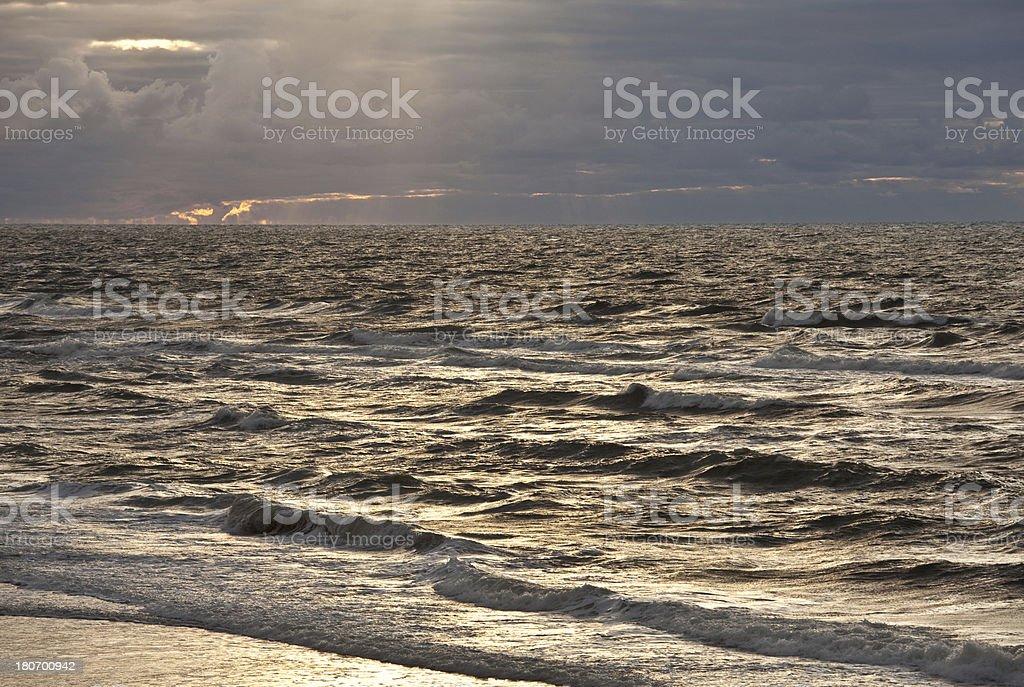 Backlit Waves royalty-free stock photo