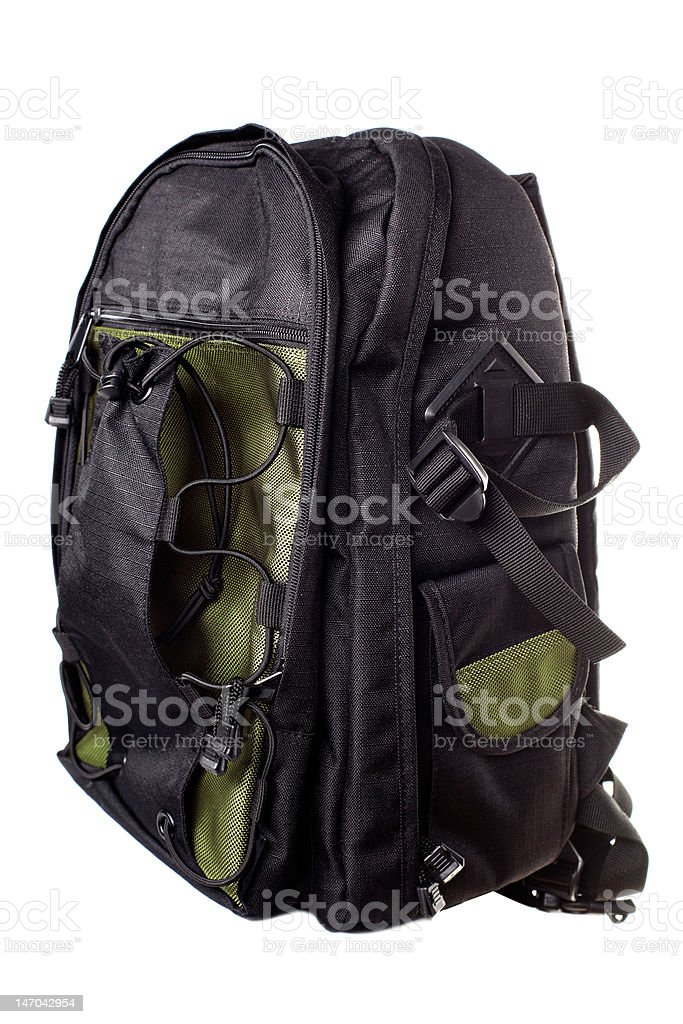 Backpack for childrens stock photo