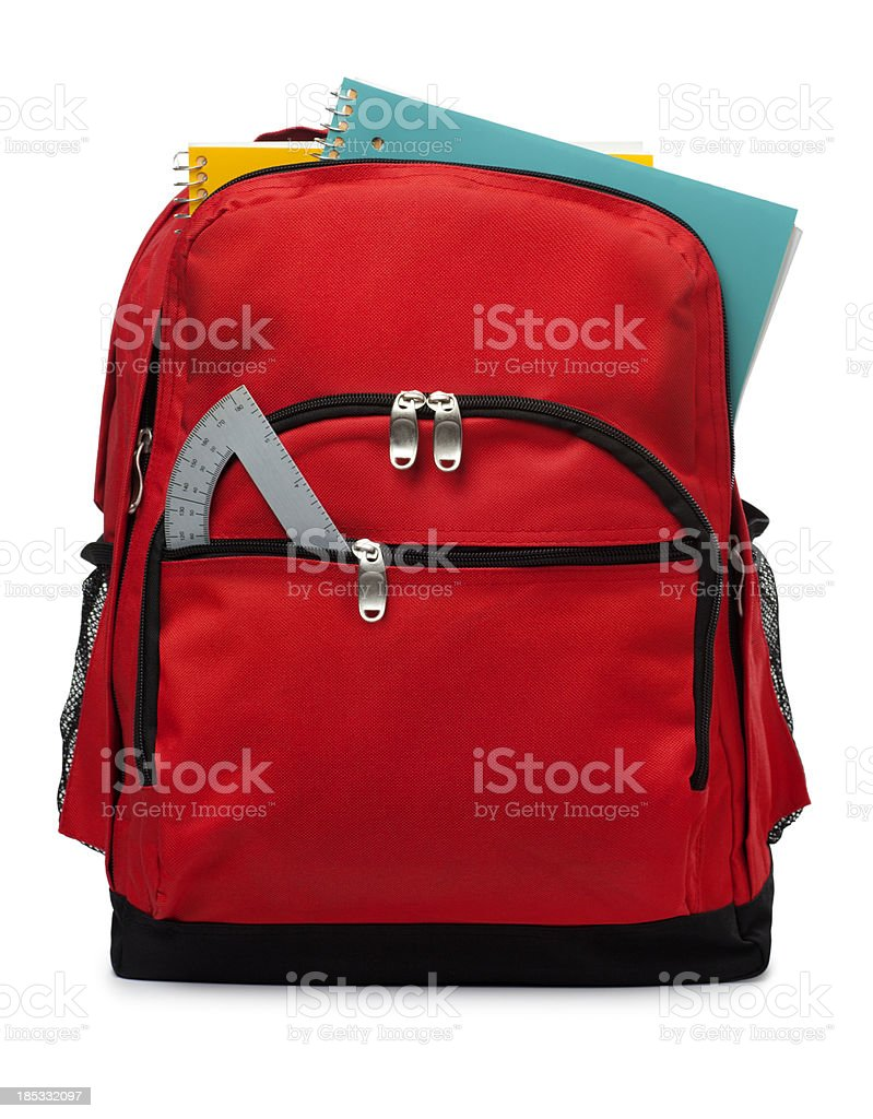 Backpack Isolated on a White Background royalty-free stock photo