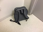 Backpack on the floor