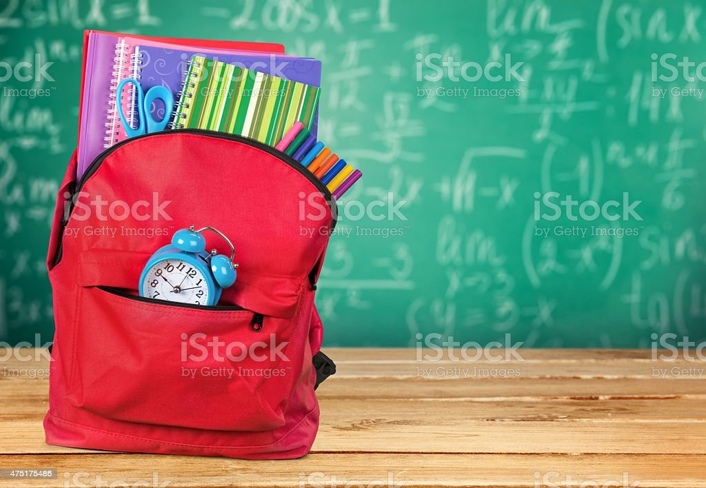 Backpack, school, back stock photo