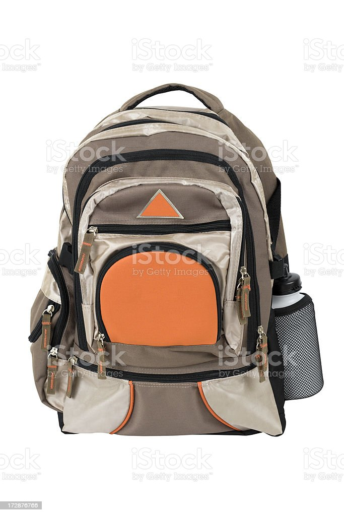 Backpack with Clipping Path royalty-free stock photo