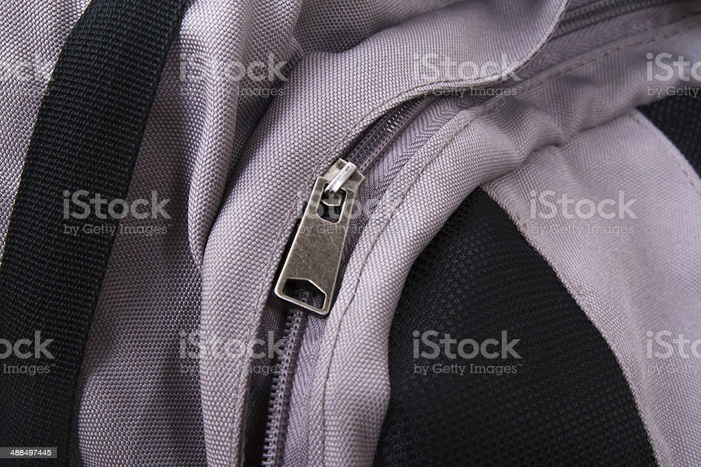 Backpack Zipper royalty-free stock photo