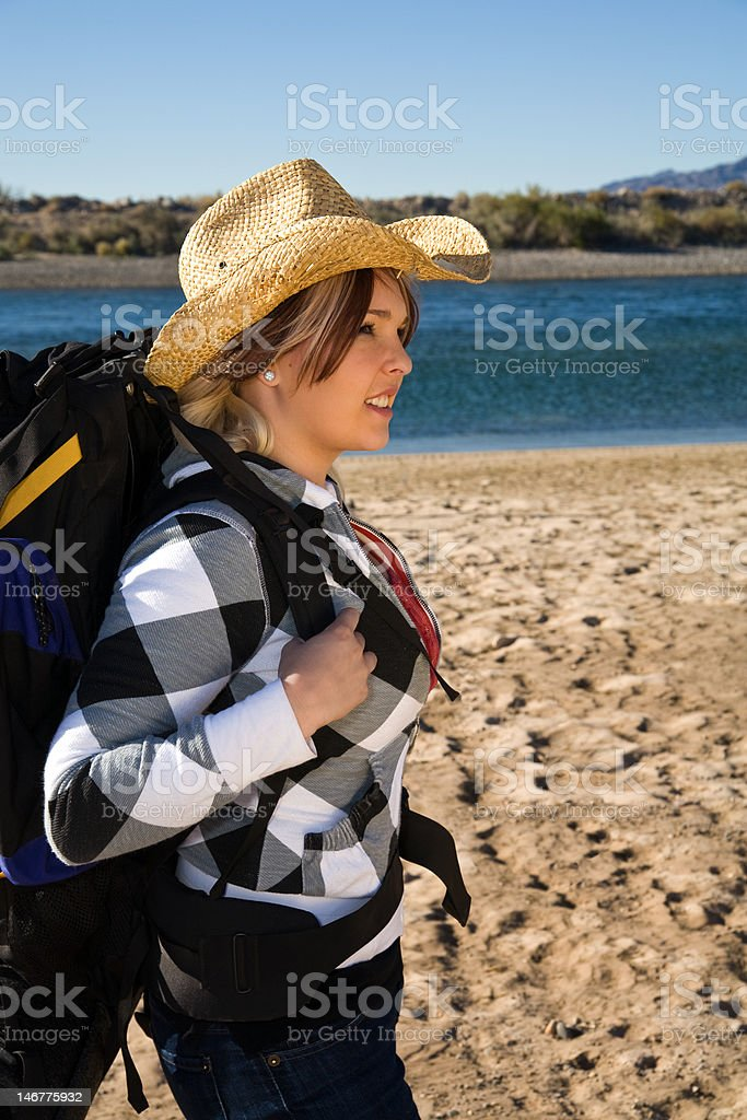 Backpacker stock photo