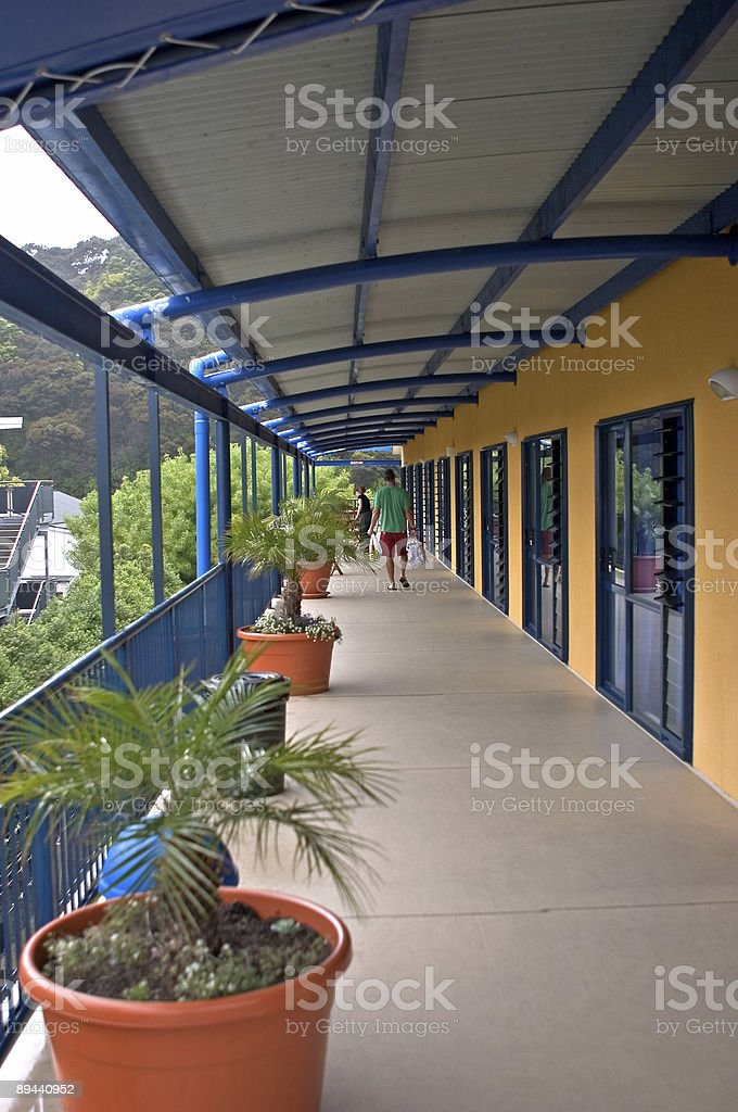 Backpackers Hostel stock photo