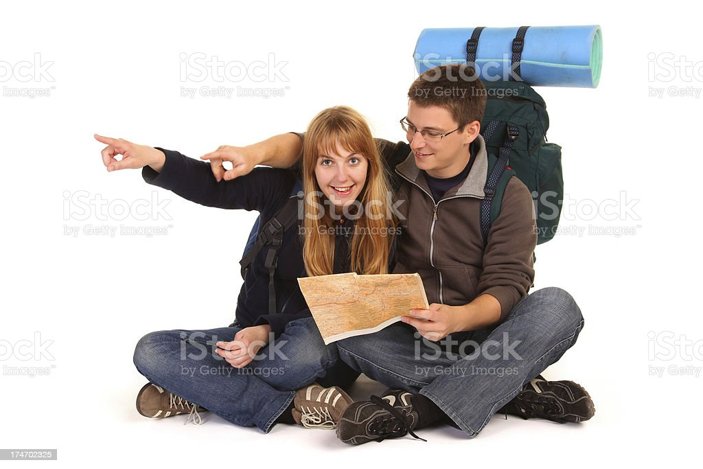 Backpackers royalty-free stock photo