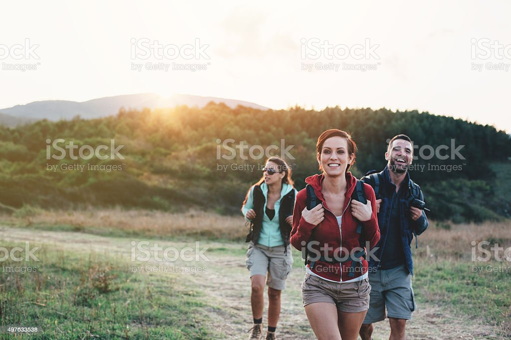 Backpackers stock photo