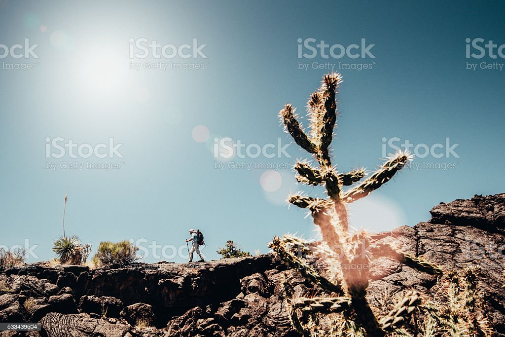 Backpacking Adventures in New Mexico stock photo